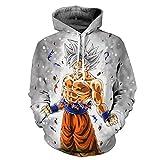Yangxinyuan Unisex Hoodies Dragon Ball Z Goku 3D Print Pullover Sportswear Sweatshirt Tops (08, S)