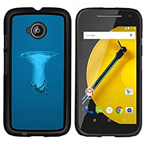 "Be-Star Único Patrón Plástico Duro Fundas Cover Cubre Hard Case Cover Para Motorola Moto E2 / E(2nd gen)( Swim Océano Sea Man Deep Blue Arte Simbólico"" )"