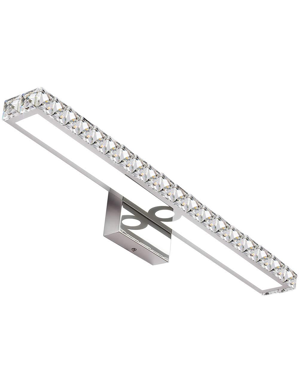 SOLFART LED Vanity Lights Over Mirror,25.4 inch 24W,Crystal Wall Lights for Bathroom Lighting Fixtures