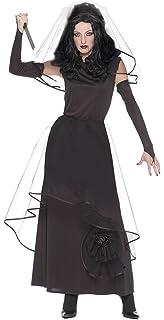 Schwarze Witwe Kostum Gothic Queen Dark Lady Faschingskostum
