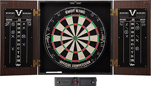 Learn More About Viper Stadium Sisal/Bristle Steel Tip Dartboard & Cabinet Bundle