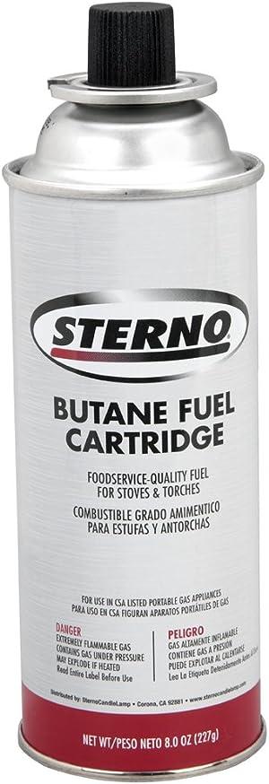 Sterno 50130 8-Ounce Butane Fuel Cartridges
