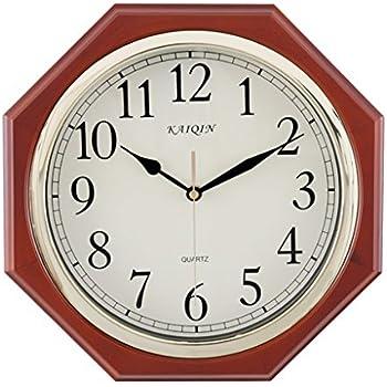 Amazon Com Wall Clocks Vintage Wall Clock Octagon Wooden