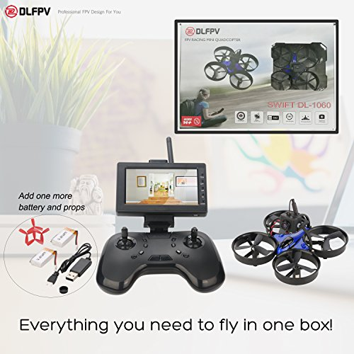 Price comparison product image DLFPV Mini FPV RC Drone Quadcopter with HD 600TVL Camera 2.4Ghz 8CH Remote Control and 4.3inch 5.8G 40CH LCD Monitor Receiver Altitude Hold 6-Axis Gyroscope RTF UFO Quadcopter