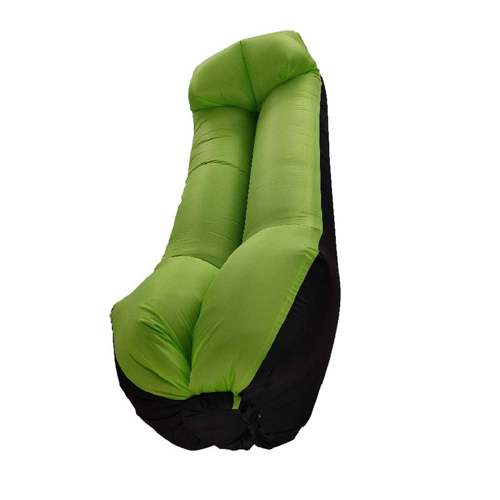 Inflatable Lounger Air Sofa Hammock - Portable Anti-Air Leaking & Waterproof Pouch Couch and Beach Chair Camping Accessories for Parties - Perfect Air Chair for Picnics or Festivals (Color : Green) by Chenguojian