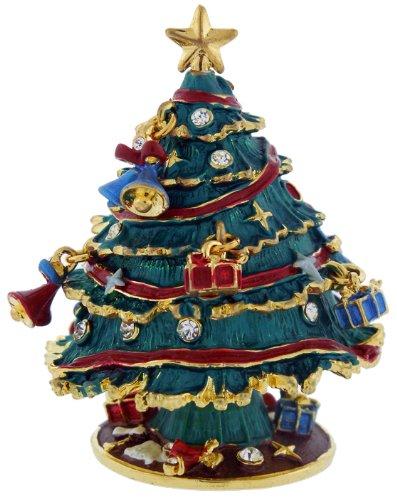 Christmas Tree With Ornaments Trinket Box