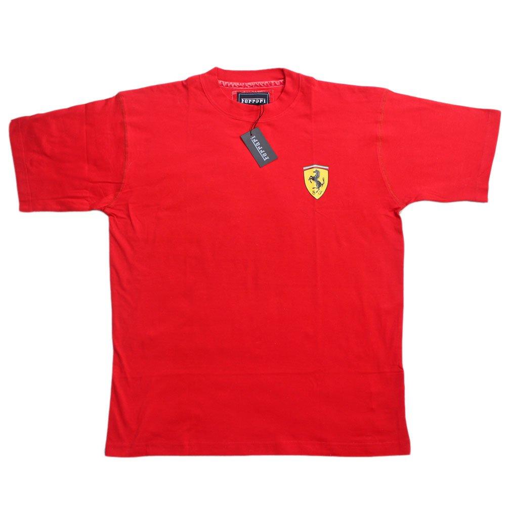 Ferrari Small Scud TSH PE08 Herren T-Shirt Scuderia Formel 1 Team Tee F1 Rot Hemd Top Cotton