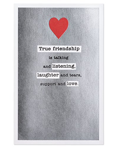American Greetings True Friendship Valentine's Day Card with Foil
