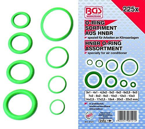 BGS technic PRO+ 225-piece HNBR O-Ring Assortment, 3-22 mm Ø ()