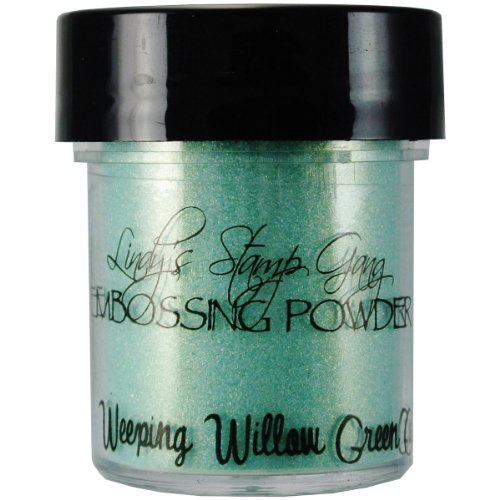 Lindy's Stamp Gang 2-Tone Embossing Powder, 0.5-Ounce Jar, Weeping Willow Green Gold