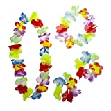Lux Accessories Multicolor Halloween Tropical Hawaiian Lei Flower Floral Set 4PC