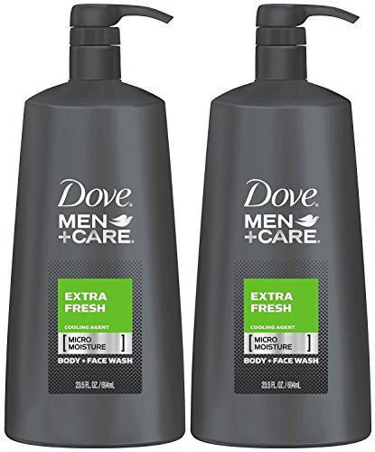Dove Men+Care Body Wash, Extra Fresh 23.5 Ounce (Pack of 2)