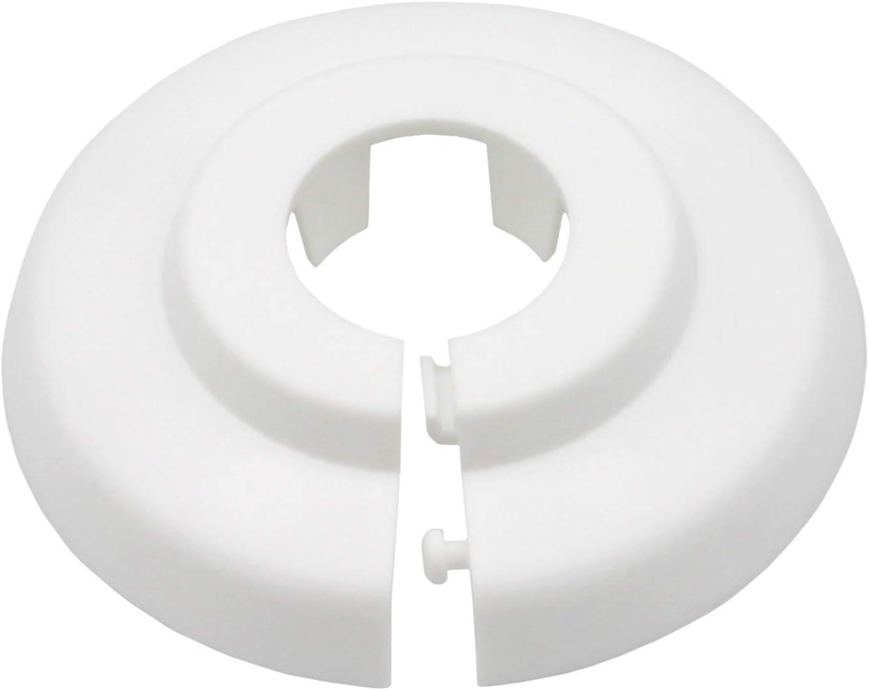 15mm polipropileno 12mm 18mm 22mm 28mm 35mm; protectoras radiador// rosetas// cubiertas 6 Piezas de rosetones para tubos de calefacci/ón para tubo di/ámetros: 12mm 16mm pl/ástico blanco