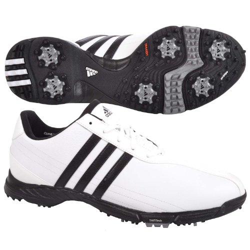 Adidas Golflite Grind 2.0 Mens Golf Shoes - White/Black - Medium Width - 10.5 US