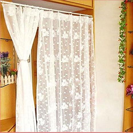 70-120cm Spring Net Shower Curtain Rod Voile Extendable Tension ...