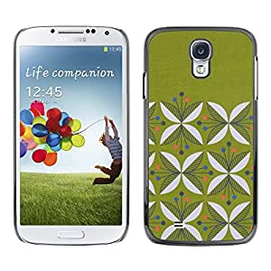 [Neutron-Star] Snap-on Series Teléfono Carcasa Funda Case Caso para Samsung Galaxy S4 [Diseño floral minimalista Musgo]
