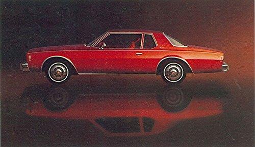 (1977 CHEVROLET IMPALA COUPE FACTORY ORIGINAL COLOR POSTCARD - USA - GREAT VINTAGE POST CARD !!)