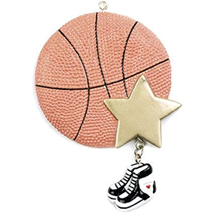 ornaments by elves personalized basketball christmas ornament for tree 2018 b ball with gold