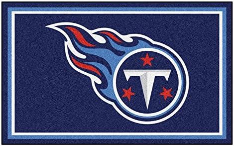 FANMATS NFL Tennessee Titans Nylon Face 4X6 Plush Rug