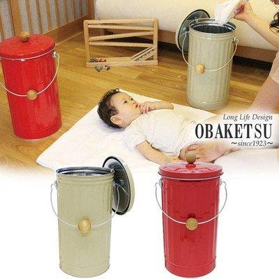 おむつ ゴミ箱 OBAKETSU オバケツ 消臭 ペール 赤 B00R2IN51Y赤