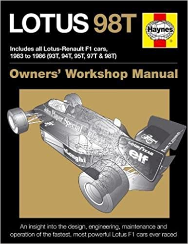Lotus 98T: Includes all Lotus-Renault F1 cars, 1983 to 1986 (93T, 94T, 95T, 97T & 98T) (Owners Workshop Manual) Hardcover – May 1, 2016