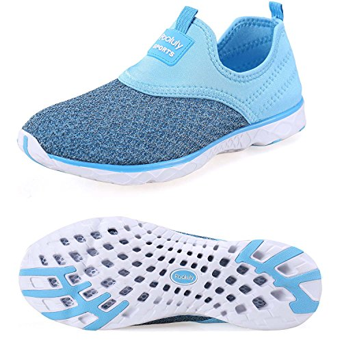 Pooluly Women's Lightweight Athletic Quick Drying Mesh Aqua Slip-on Water