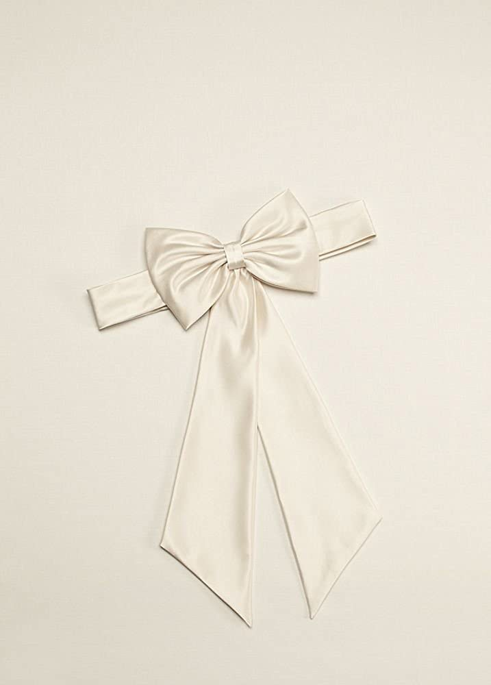 ce5067306a3 Amazon.com  Satin Flower Girl Sash with Back Bow Style S1041