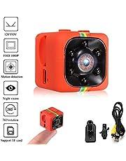 Crazepony-UK Mini Telecamera Spia SQ11 Camcorder 3.6mm Night Vision FOV140 Mini Camera 1080P HD Sports Micro Camera DVR Video Recorder by (Metal Shell)