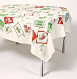 Vintage Style Mid-Century Christmas Cards Tablecloth