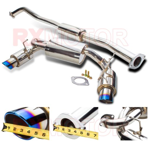 03-08 G35 2dr Vq35 Vip Dual Perfomance Cat Back Exhaust Burned Muffler Tip (04 N1 Cat Back Exhaust)