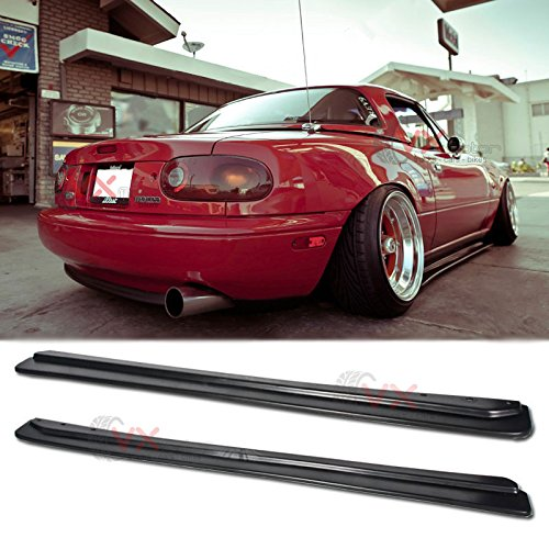 VXMOTOR FD Style Side Skirts Body Kit NA MX-5 JDM Rockers Splitter for 1990-1997 Mazda Miata ()
