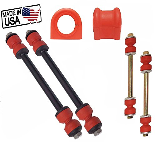 6PC Front/Rear Sway Bar Links Bushings For 2002-2005 FORD EXPLORER MOUNTAINEER 29/30MM BAR