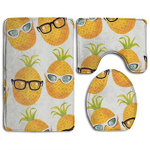 Homestores Cool Pineapple Pattern Skidproof Toilet Seat U