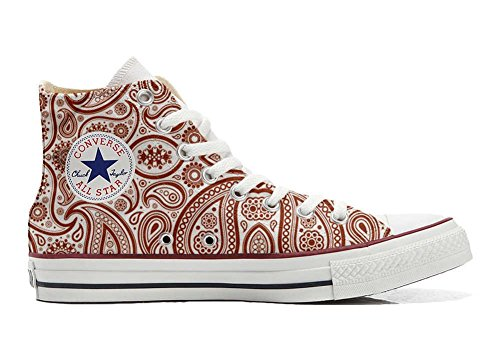 Hi Eu Personnalisé Unisex Artisanal Coutume Sneaker Star Chaussures produit Elegant All Converse 43 Size Paisley qg61twxWTx