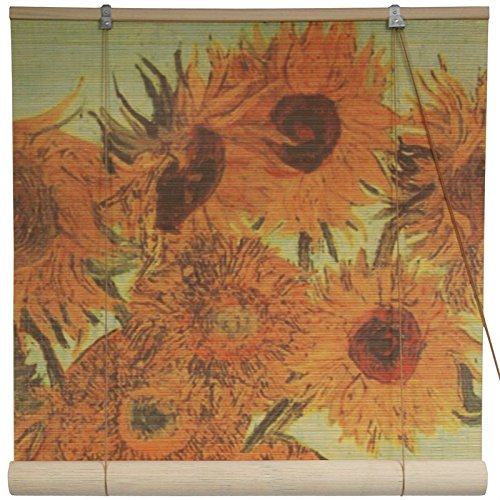 Oriental Furniture Sunflowers Bamboo Blinds - (60 in. x 72 in.)
