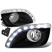 Toyota Camry XV40 Pair of Bumper Driving Fog Lights w/LED Bezel & Switch (Clear Lens)