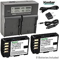 Kastar LCD Dual Fast Charger & 2 x Battery for Panasonic DMW-BLF19 Panasonic Lumix DMC-GH3 Lumix DMC-GH3A DMC-GH3AGK Lumix DMC-GH3GK Lumix DMC-GH3H DMC-GH3HGK Lumix DMC-GH3KBODY DMC-GH4H Lumix DMC-GH4