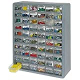 STORAGE ORGANIZER CABINET 60 PLASTIC DRAWER BOXES PARTS CONTAINER BIN TOY GARAGE - US