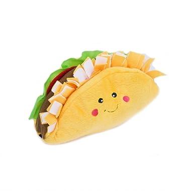 ZippyPaws NomNomz Plush Squeaker Dog Toy The Foodie Pup