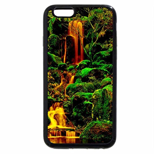 iPhone 6S / iPhone 6 Case (Black) garden beautiful rose pink buds flower wet dew leaves green drops