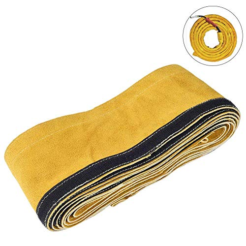TOOLTOO TIG Welding Torch Cable Cover - Flame Resistant Leather Kevlar Stitched 137