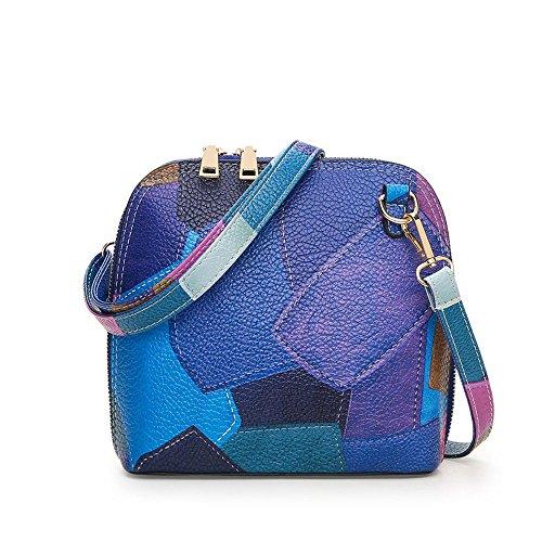 YUYO - Bolso al hombro de Material Sintético para mujer Azul