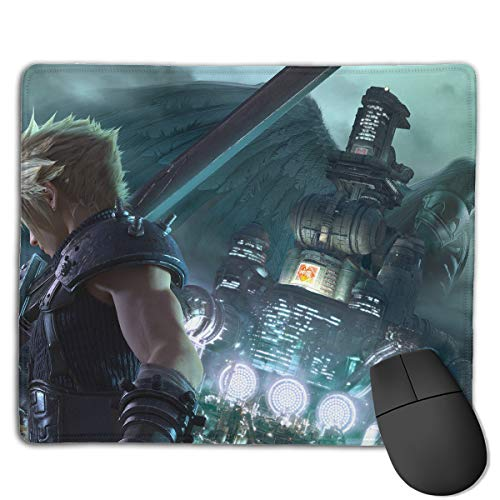 Final Fantasy XII-Cloud and Sephiroth Non-Slip Mouse Pad Rectangle Rubber Anime Mouse Pad Gaming Mouse Pad 8.6x7.1 Inch(22x18 cm) (Final Fantasy Mouse)
