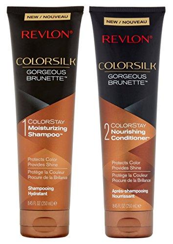 (Revlon Colorsilk Colorstay Moisturizing Shampoo & Conditioner Set, Gorgeous Brunette, 8.45 Oz Each)