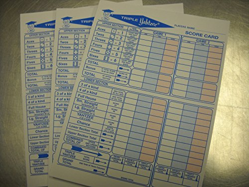 150 Triple Yahtzee Score Sheets for sale  Delivered anywhere in USA