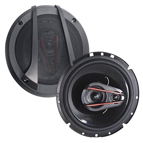 (6.5 Inch Full Range Car Speaker, Car Sound Speaker (Pair) 3 Ways Coaxial Car Speakers-Set of 2)