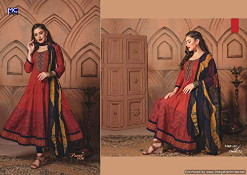 anarkali suits ready made cotton - 7