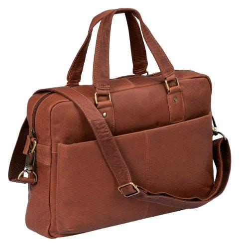 bons plans 2017 prix compétitif à bas prix LEAS Sac pour ordinateur portable by, cuir véritable, cognac Classic Bags''