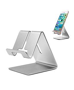 Desktop telefono cellulare supporto tablet Supporto, alluminio, supporto stander per iPad iPhone cellulari tablet (fino a 25,4cm)