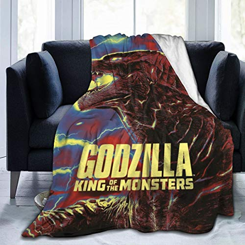 Target 2019 Halloween Clearance (3D Fleece Bed Blankets, Godzilla King of The Monsters 2019 Fanart Halloween Throw Blankets, Washable Ultra Soft Game Blanket Fit Men Outdoor)